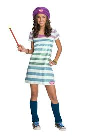wizard costume child amazon com wizards of waverly place alex striped dress costume