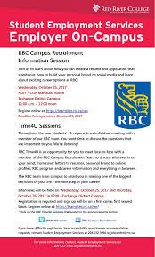 Rbc Resume Rbc Campus Recruitment Information Session Diversity News
