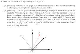4 let c be the curve with equation xy 2x y u003d 0 chegg com