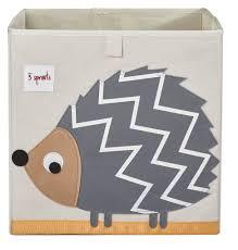 Canvas Storage Bins 3 Sprouts Storage Bins U0026 Boxes 3 Sprouts Storage Box Hedgehog Grey