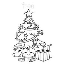 coloring page of christmas tree with presents top 35 free printable christmas tree coloring pages online