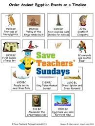 ancient egypt timeline lesson plan and worksheet activity tpt