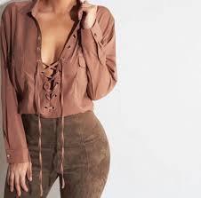 blouse tumbler gkz5tx l 610 610 blouse shirt lace lace collared shirts brown