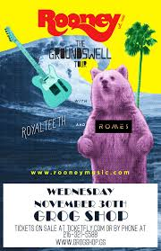 halloween city cleveland heights rooney the groundswell tour u2013 tickets u2013 the grog shop