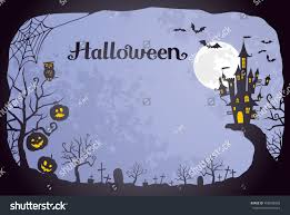 blue halloween background halloween background stock vector 458058958 shutterstock