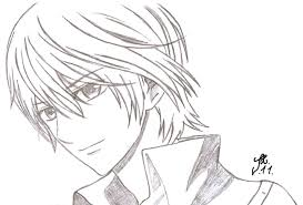ichijo vampire knight anime coloring pages sketch coloring page