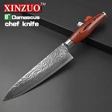 damascus kitchen knives 2015 8 chef knife 73 layers japanese damascus steel kitchen