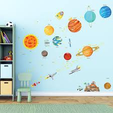 amazon com witkey spaceship rocket growth height chart wall