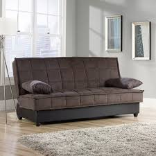 Convertible Sofa Sleeper Sauder Bayshore Convertible Sofa Chocolate Walmart Com