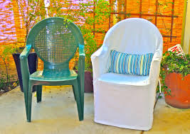 plastic chair covers frumpy to fresh plastic chair makeover slips custom interior
