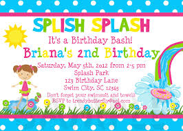 birthday invitations water splish splash