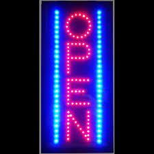 Man Cave Led Lighting by Open Vertical Led Sign