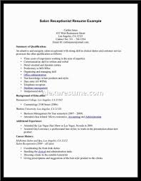 resume examples for massage therapist spa therapist resume objective cover letter beauty therapist choose receptionist resume sample example of a retail resume