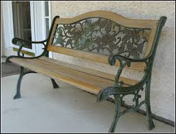Where To Buy Wrought Iron Patio Furniture Exterior Wrought Iron Porch Bench With Carved Back And Wooden