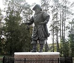 Jamestown supply missions   Wikipedia Statue of Christopher Newport at the university bearing his name