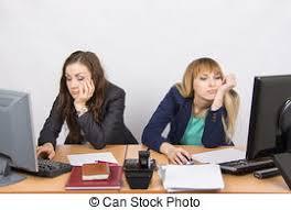 employé de bureau bureau deux une employé fleuriste femme photo de