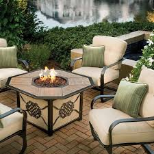Agio Patio Dining Set by Amazon Com Agio Heritage Gas Fire Pit With Copper Reflective