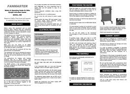 instruction manuals fanmaster