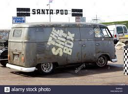 volkswagen van side a volkswagen panel van at the santa pod raceway england with the