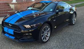 Black Mustang With Pink Stripes 2015 2016 2017 2018 Mustang 10