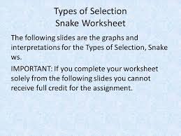 types of selection ppt download