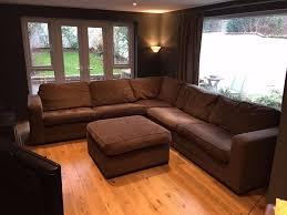 Large Corner Sofa Very Large Fabric L Shaped Corner Sofa With Large Pouffe Stool