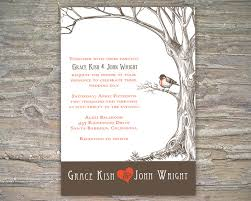 rustic tree invitation printable diy for wedding or event on luulla