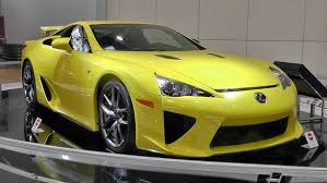 toyota lexus sports car lexus lfa yellow toyota kaikan museum youtube