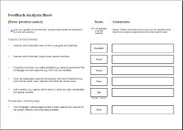 Goals And Objectives Template Excel Feedback Analysis Worksheet Template Excel Templates