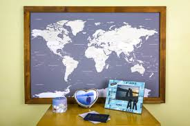 Large Framed World Map by Large World Push Pin Map With Classic Frame Review Travel To