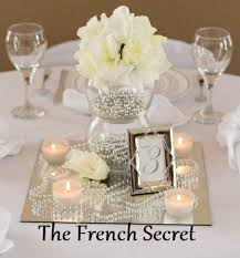 Shabby Chic Wedding Centerpieces by Silver Wedding Pearl Garland Decoration Pearl Beads Centerpiece