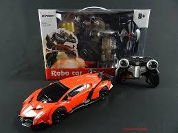 Lamborghini Veneno Model - remote control transforming lamborghini veneno roaster robot and