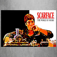 your world scarface vintage retro posters and prints home decor