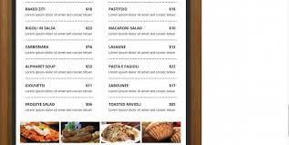menu template free free menu template 21 free word pdf documents
