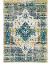 deals on amsterdam traditional bright blue saffron area rug 2 u0027x3 u0027