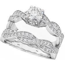 unique wedding ring sets nfinity twist 2 genuine 925 sterling silver luxury unique