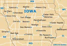 map us iowa map usa iowa major tourist attractions maps