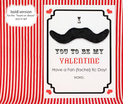 make mustache valentine u0027s day cards free printable