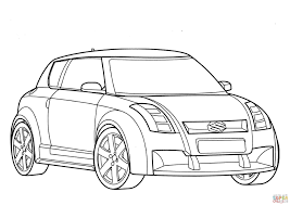 suzuki swift coloring page coloring pages