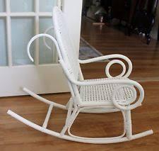 White Childs Rocking Chair Wicker Antique Chairs 1900 1950 Ebay