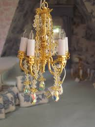 Miniature Chandelier La Grande Maison The Greenleaf Garfield Dollhouse Chandeliers Galore