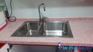 How To Repair Kitchen Sink Repair Kitchen Sink Drain Pipe Plumber Singapore Mr Plumber