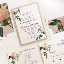 floral wedding invitations ivory blush floral customizable wedding invitations beacon