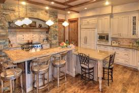 kitchen rustic kitchen blue cathedral ceiling u shaped kitchen