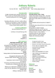 graduate financial advisor cv personal profile recentresumes com