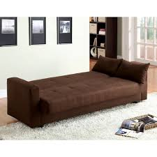 Sofa Sleeper With Storage Furniture Of America Cozy Microfiber Futon Sofa Bed With Storage
