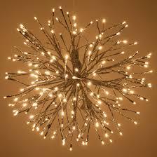 warm white led twinkle lights starburst lighted branches with warm white led twinkle lights 1 pc