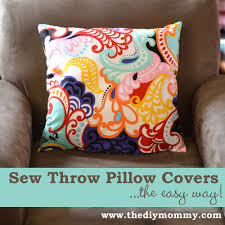 How To Cover Patio Cushions by Sew A Throw Pillow Cover U2013 The Easy Way The Diy Mommy