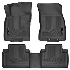 nissan rogue all weather mats husky liners fit 2014 2017 nissan rogue front and rear floor mats