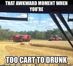 Tractor Meme - tractor fitness on twitter to cart to drunk thanks for the meme